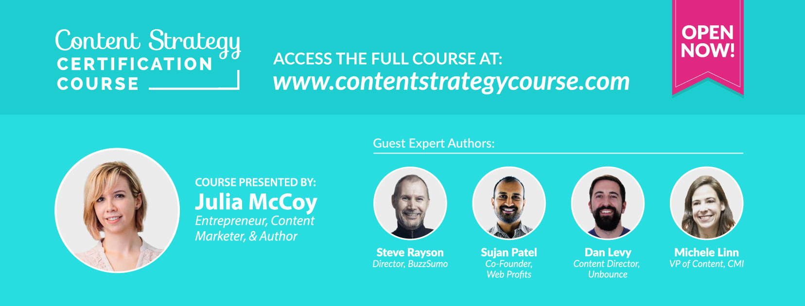 julia's content strategy certification course
