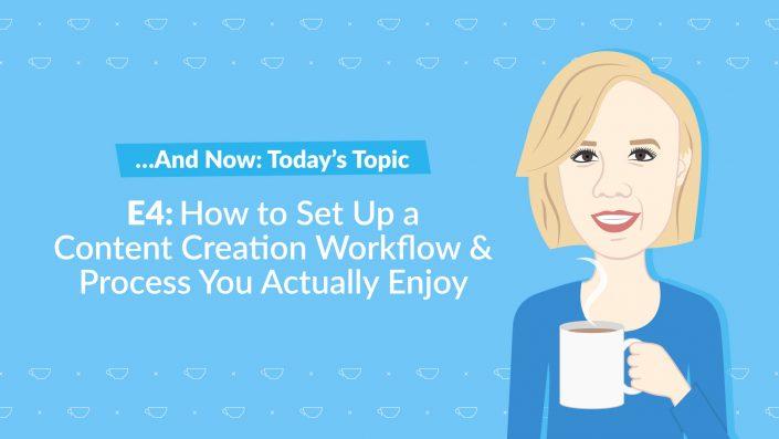 The Content Marketer's Café with Julia McCoy Episode 4 content creation workflow