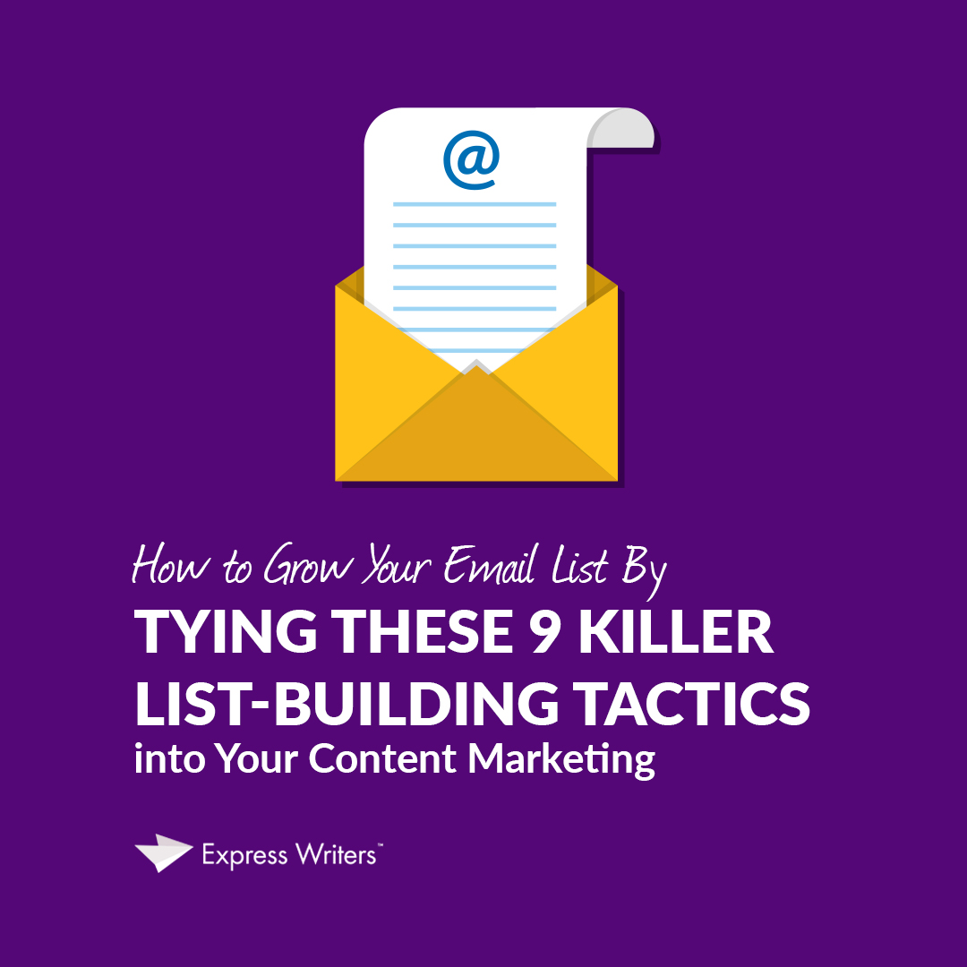 email list-building tactics