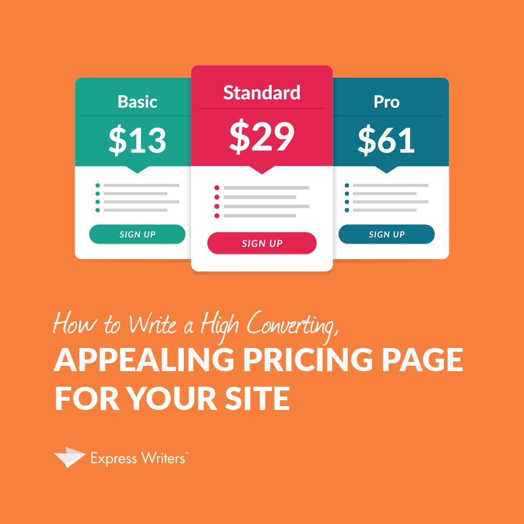 how to write a pricing page guide