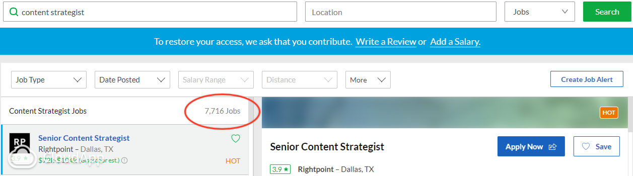 glassdoor Content Strategist
