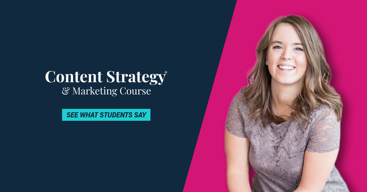 content strategy course cta