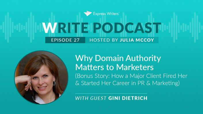 E27 write podcast gini dietrich