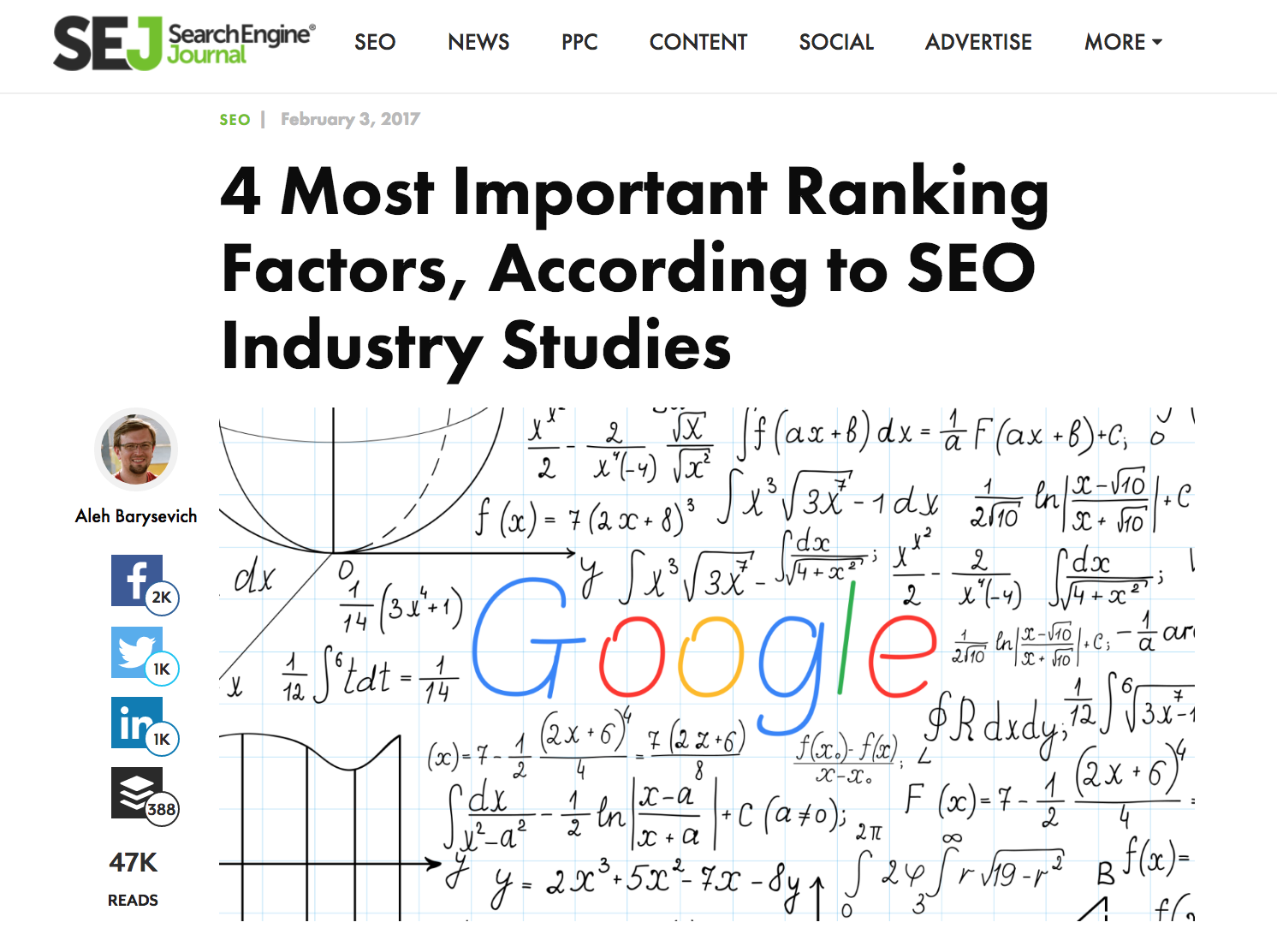 search engine journal article