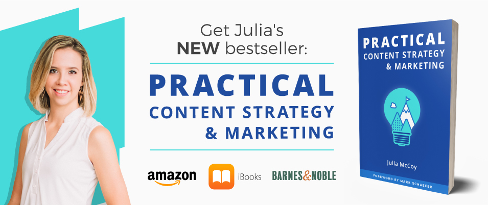 practical content strategy & marketing book cta