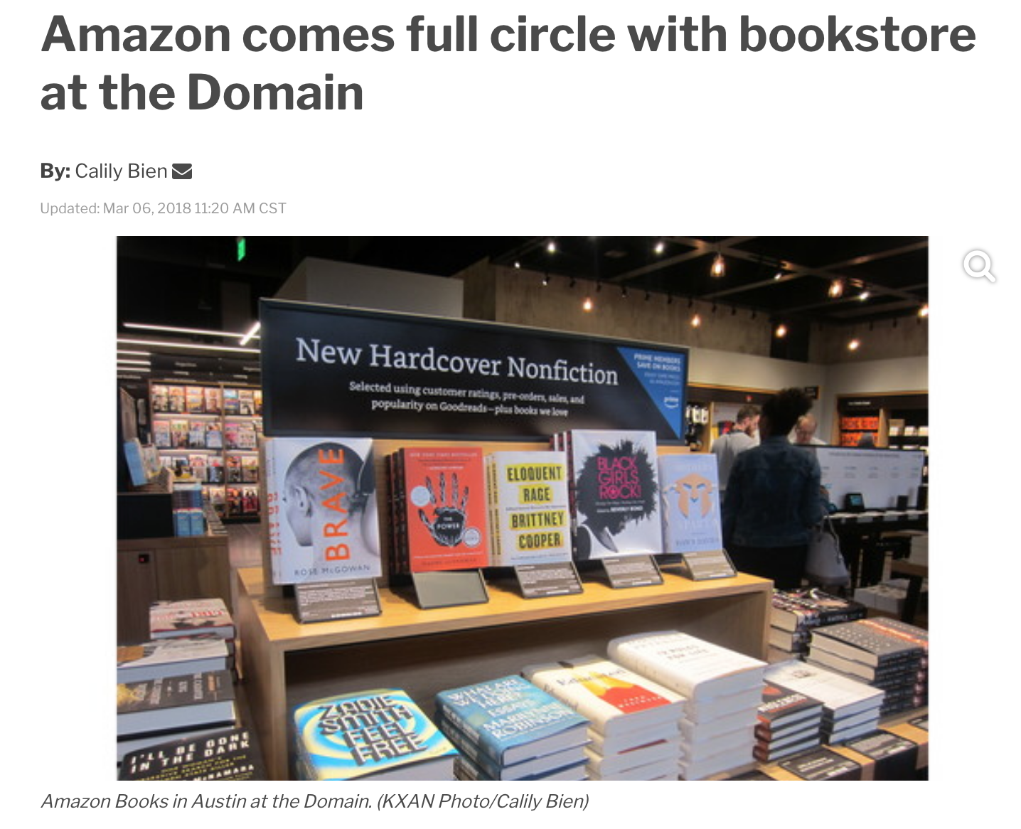 amazon bookstore launches