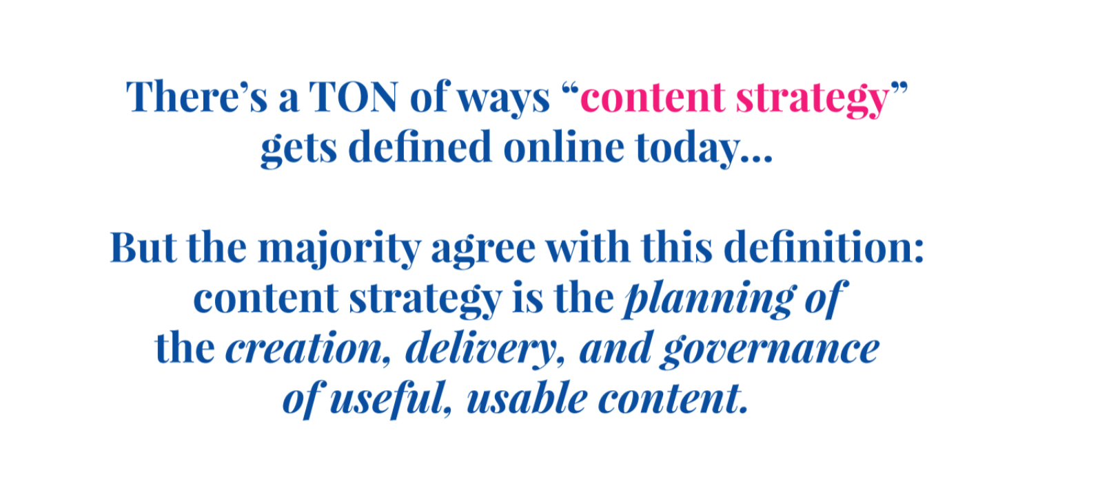 content strategy definition
