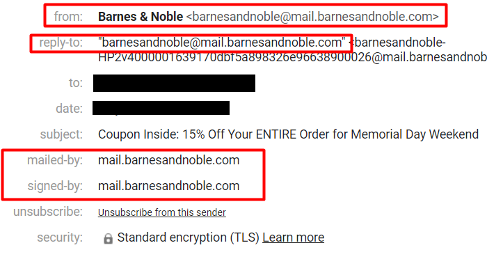 barnes & noble email example