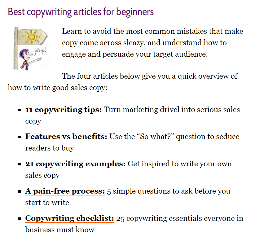copywriting articles for beginners