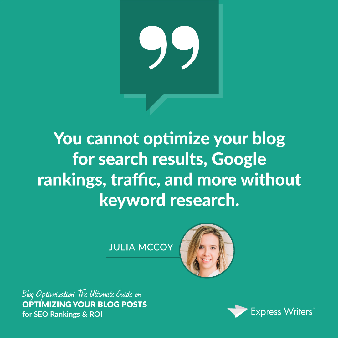 quote 1 blog optimization guide