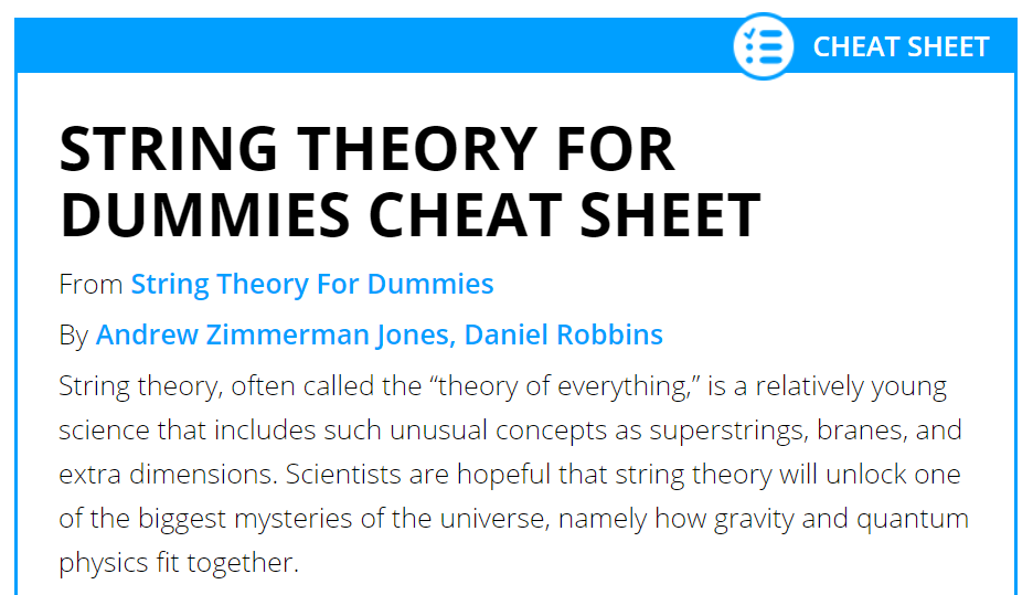string-theory-for-dummies