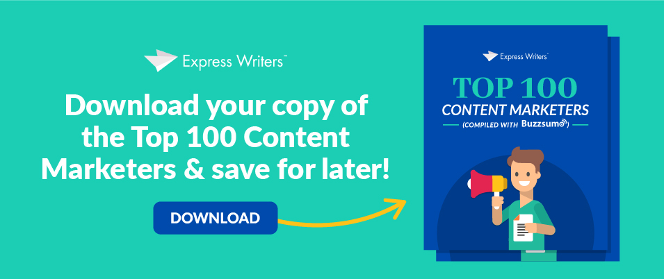 top 100 content marketers CTA