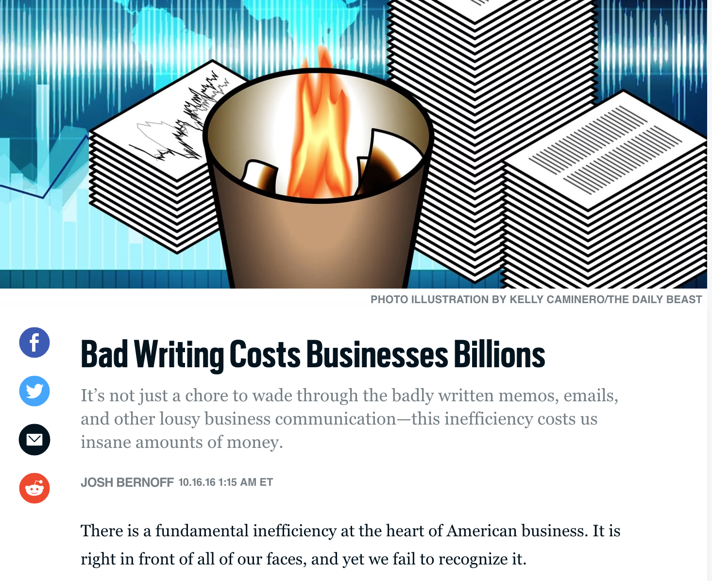 bad writing costs billions
