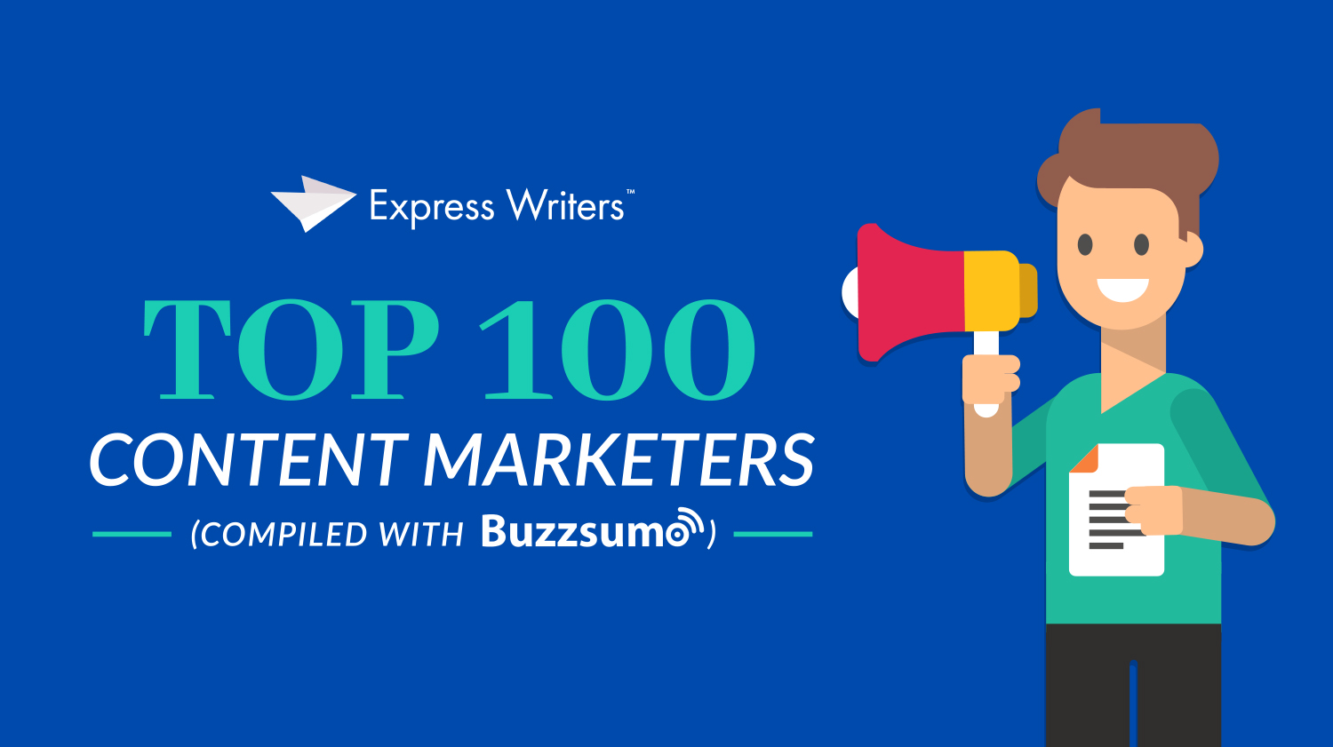 top 100 content marketers study