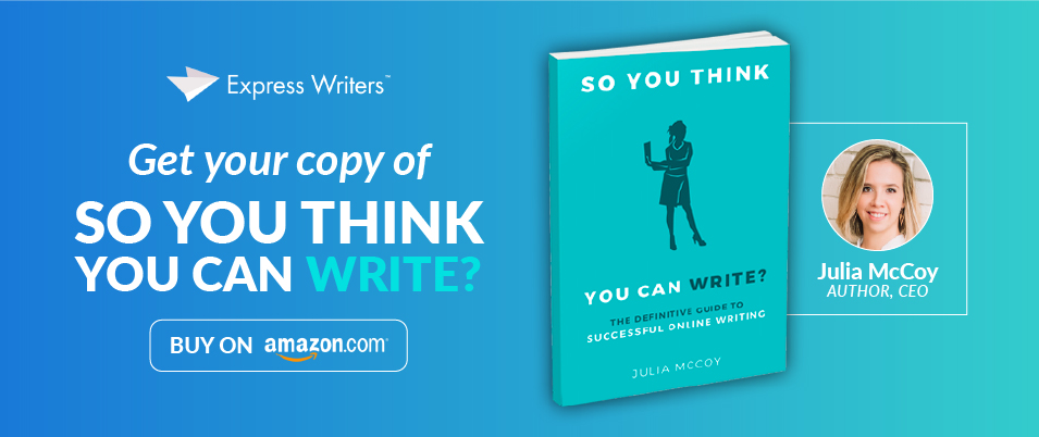 julia mccoy so you think you can write book