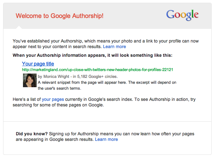 google authorship screenshot | google plus shutting down