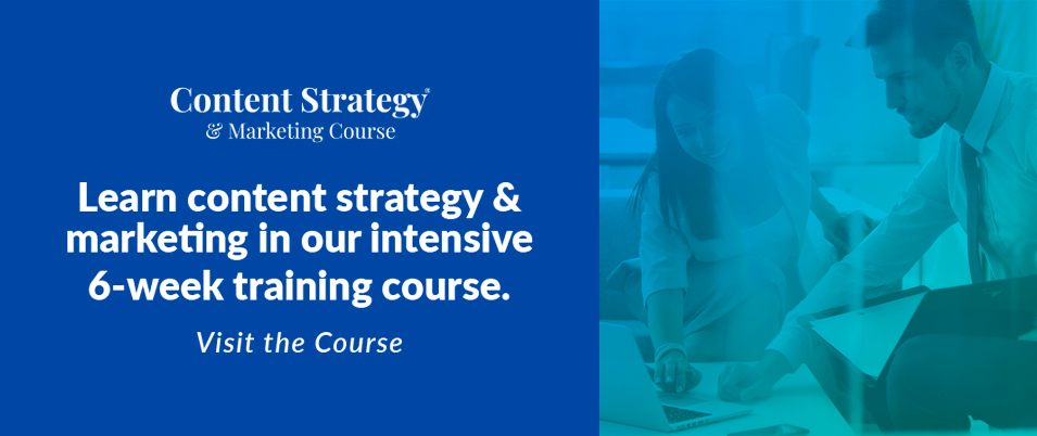 digital marketing consultant content strategy course