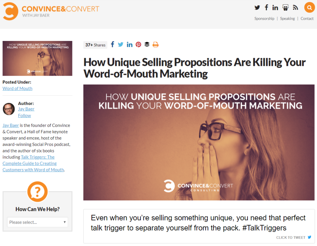 unique selling proposition is different from content differentiation factor