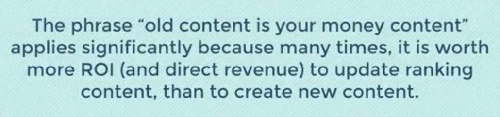 old content is your money content quote by julia mccoy