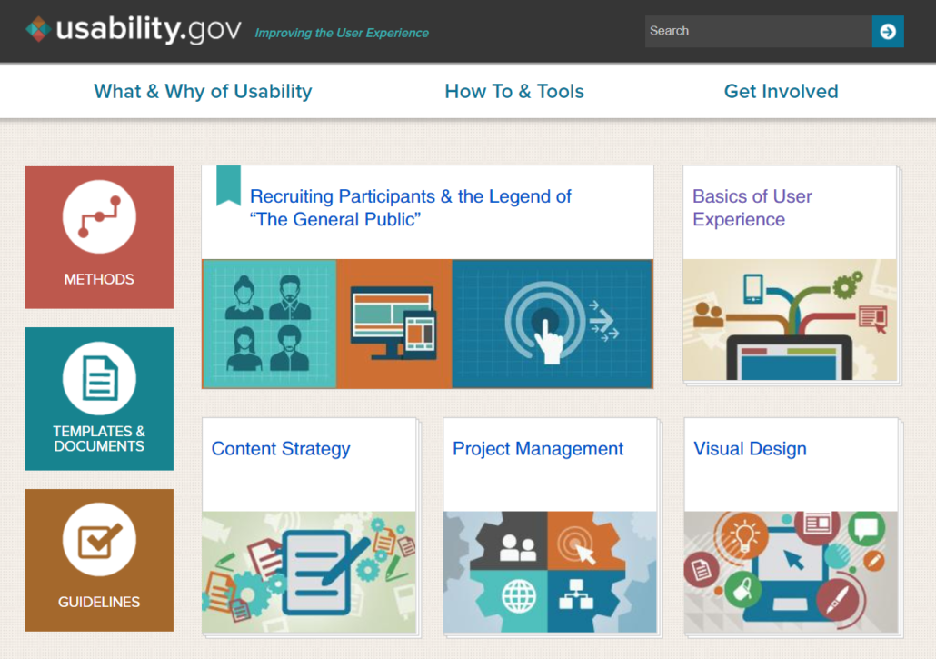 screenshot image of the site usability.gov