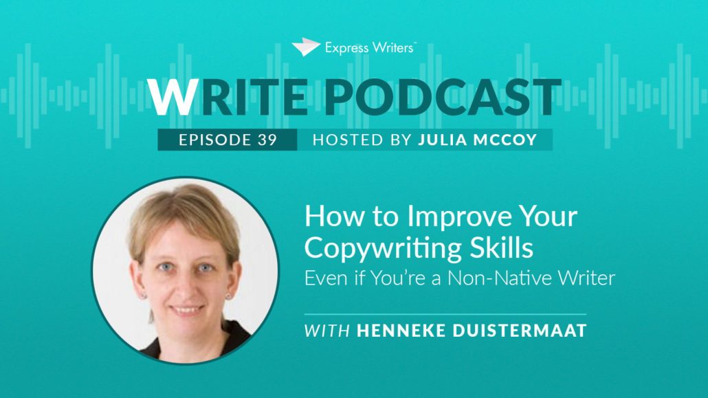 henneke duistermaat on improving your copywriting skills
