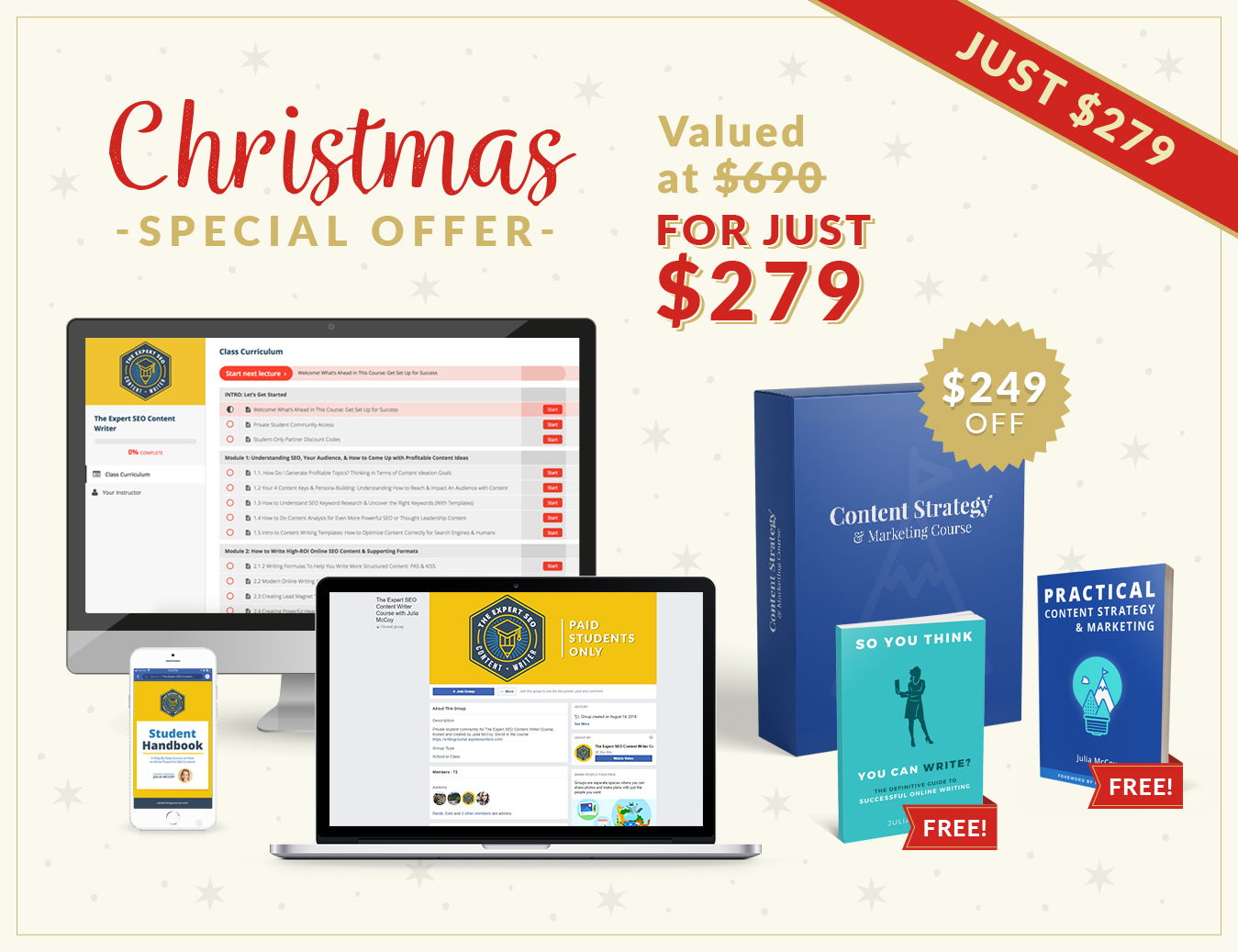 seo writing course christmas offer