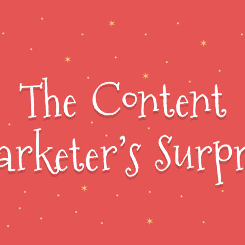 The Content Marketer's Surprise: A Collaborative Story By 25 Writers (Narrated Infographic)