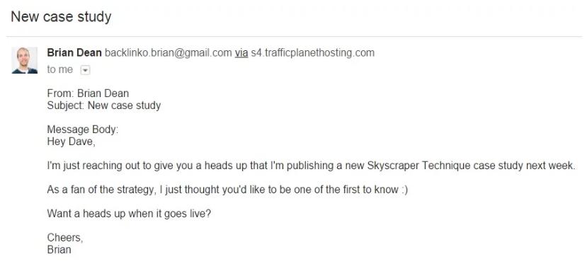 Brian Dean email outreach
