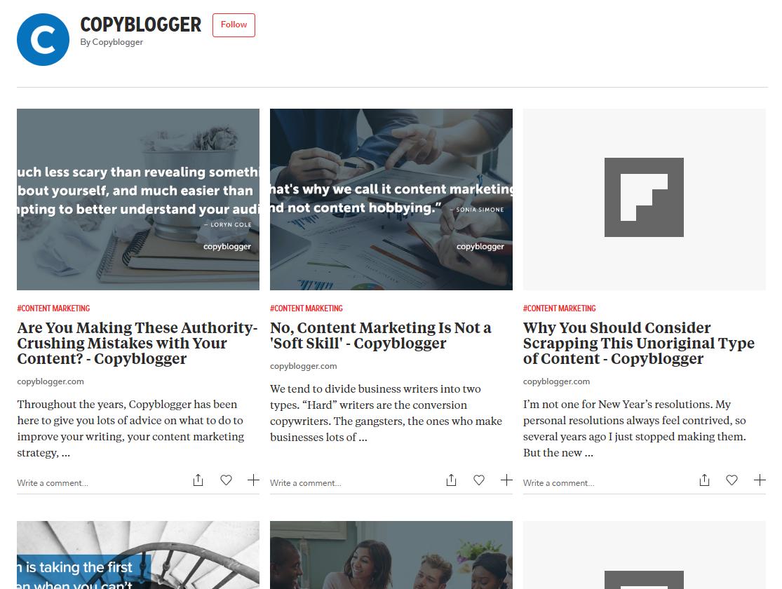 copyblogger flipboard