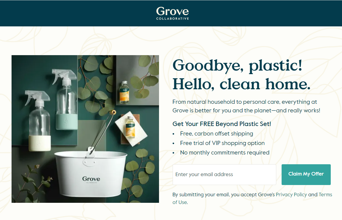 grove collaborative landing page