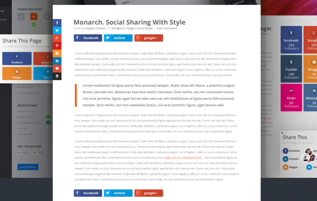 monarch social sharing