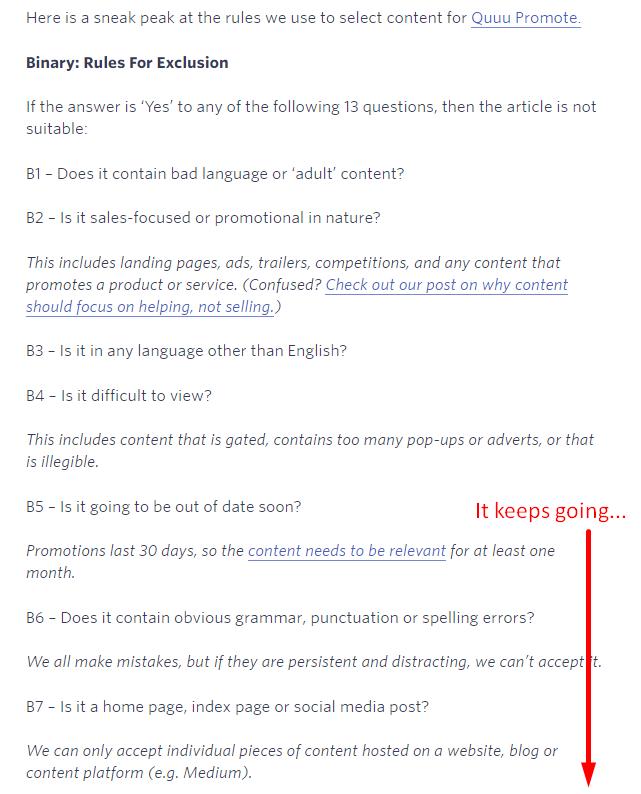 quuu promotion criteria