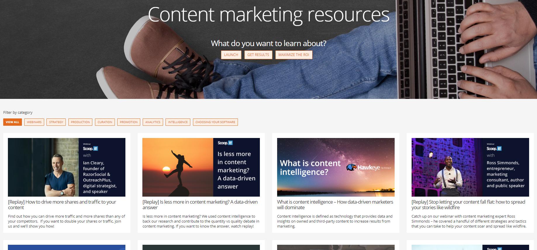 scoop.it content hub