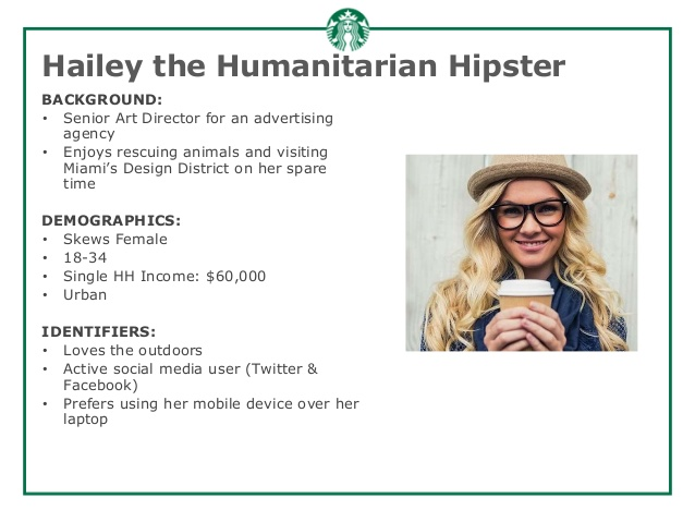 hailey, the humanitarian hipster audience persona