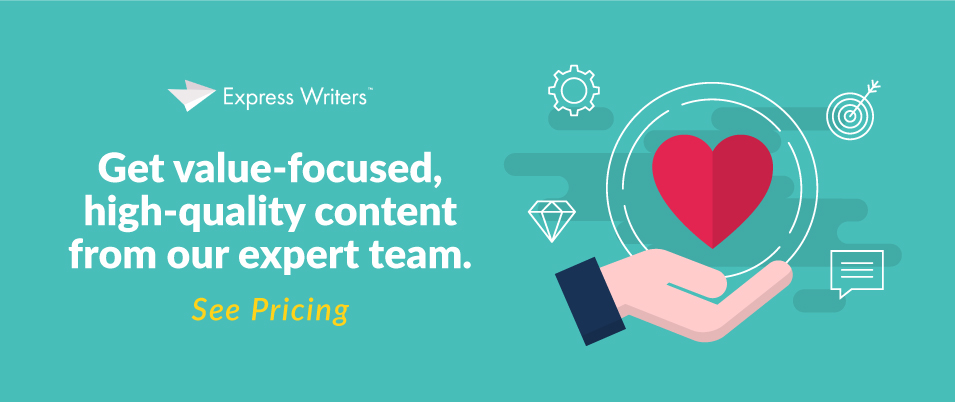 value focused marketing CTA