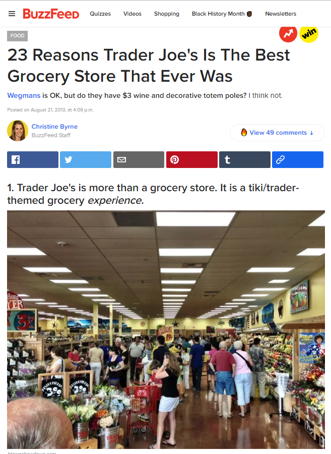 buzzfeed trader joe's best grocery story list article