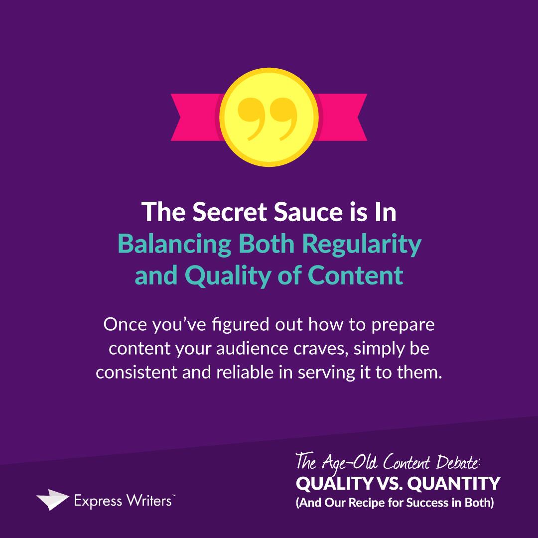quality vs quantity of content marketing