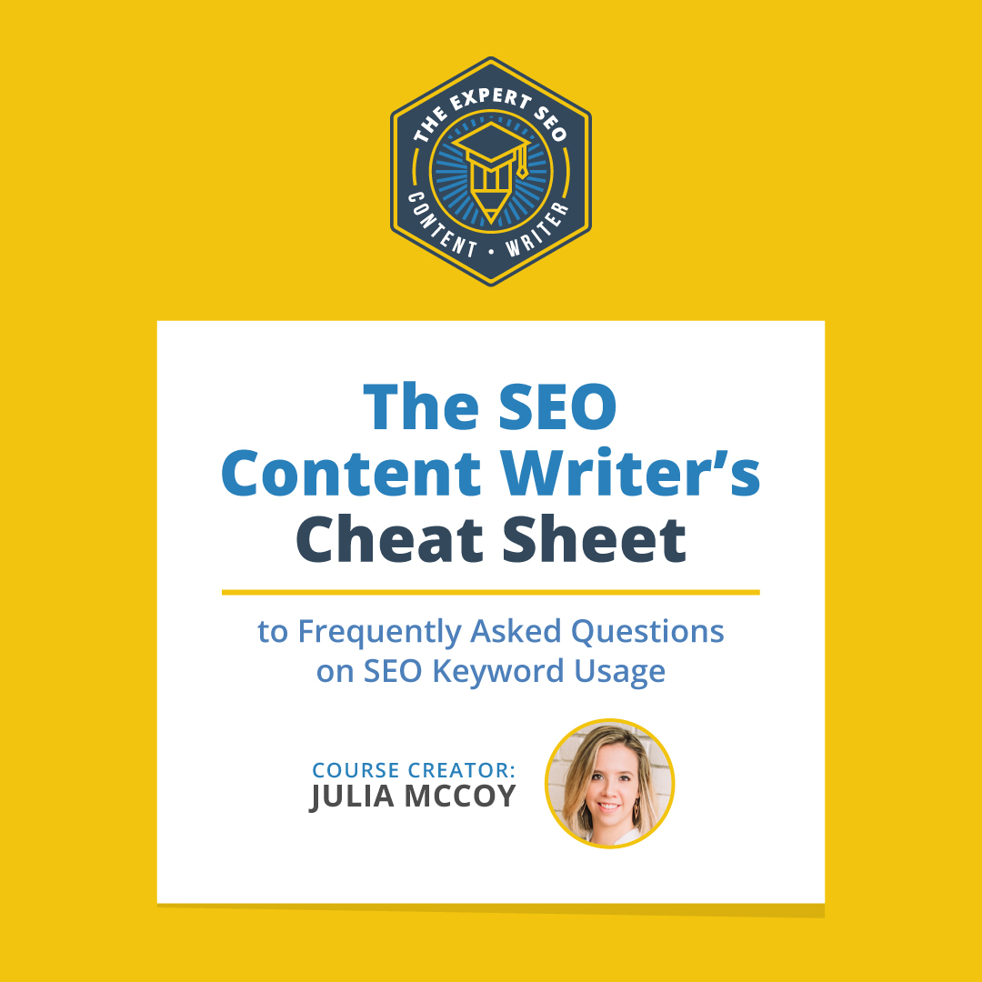 The Expert SEO Content Writer Cheat Sheet
