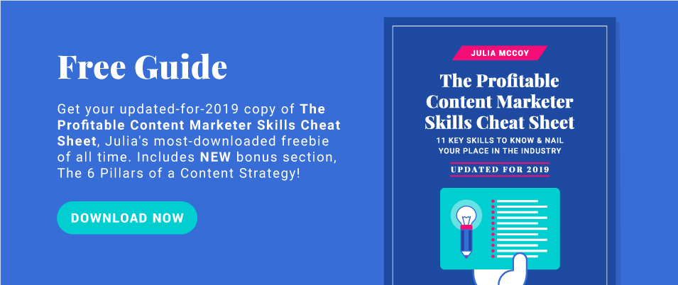 Download the profitable content strategist skills cheat sheet here