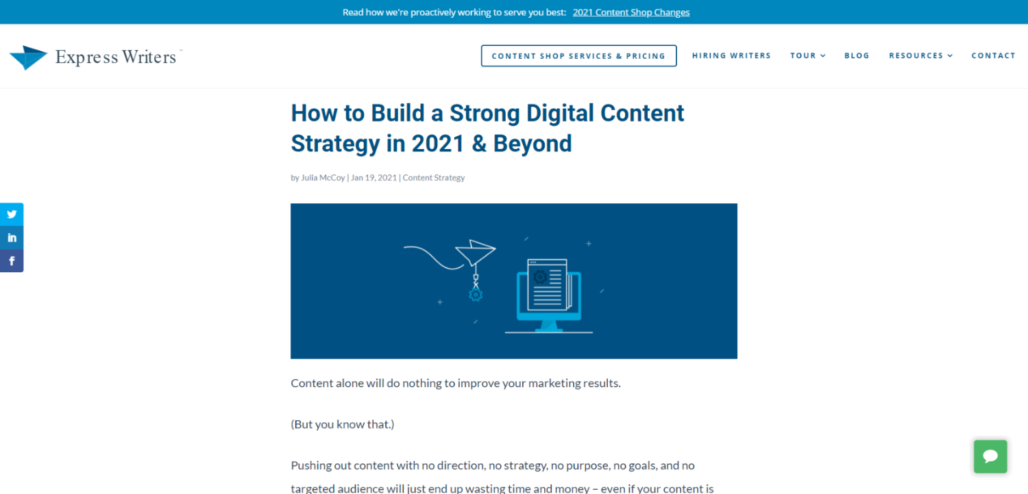 how to build a strong digital content strategy blog