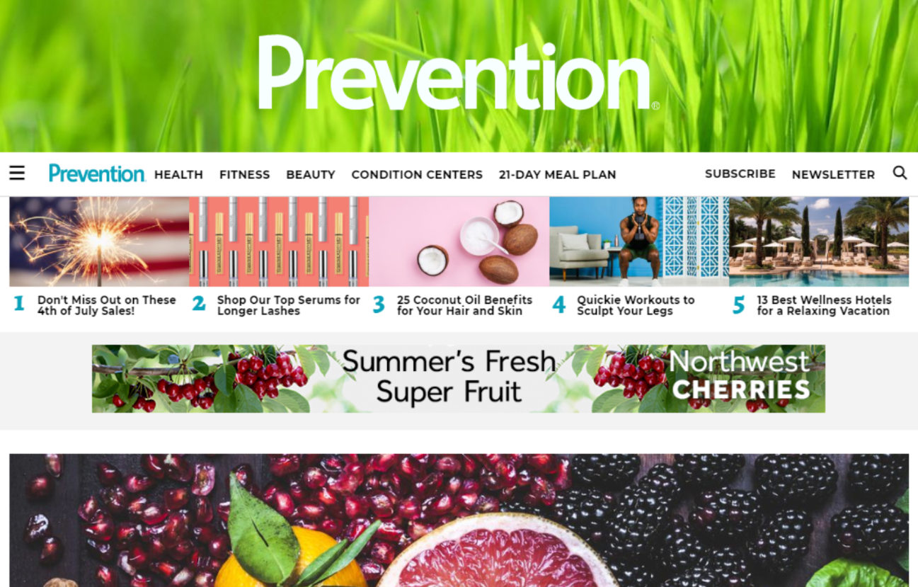 Health news sites like Prevention and Mind Body Green dropped by 29% and 30%, respectively.