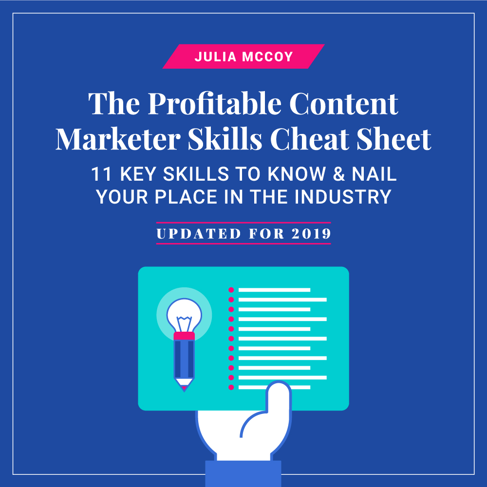 profitable content marketer cheat sheet