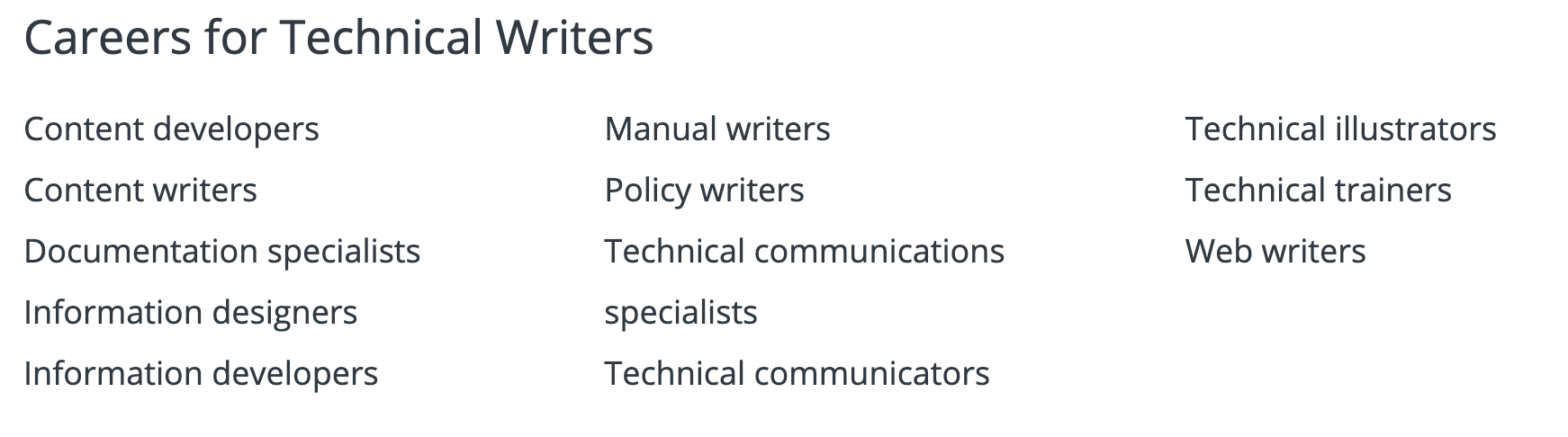 tech writer careers