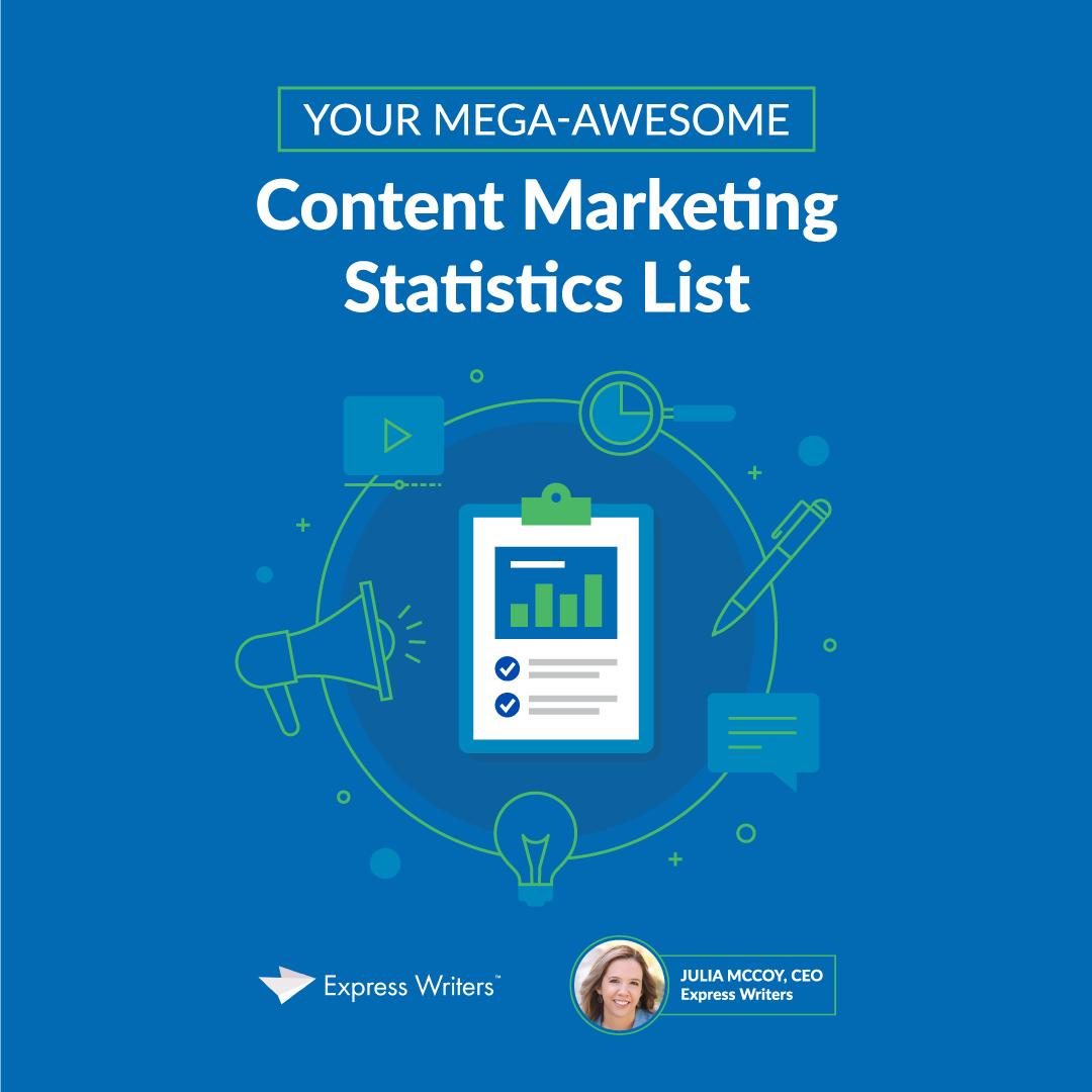 content marketing statistics cheat sheet