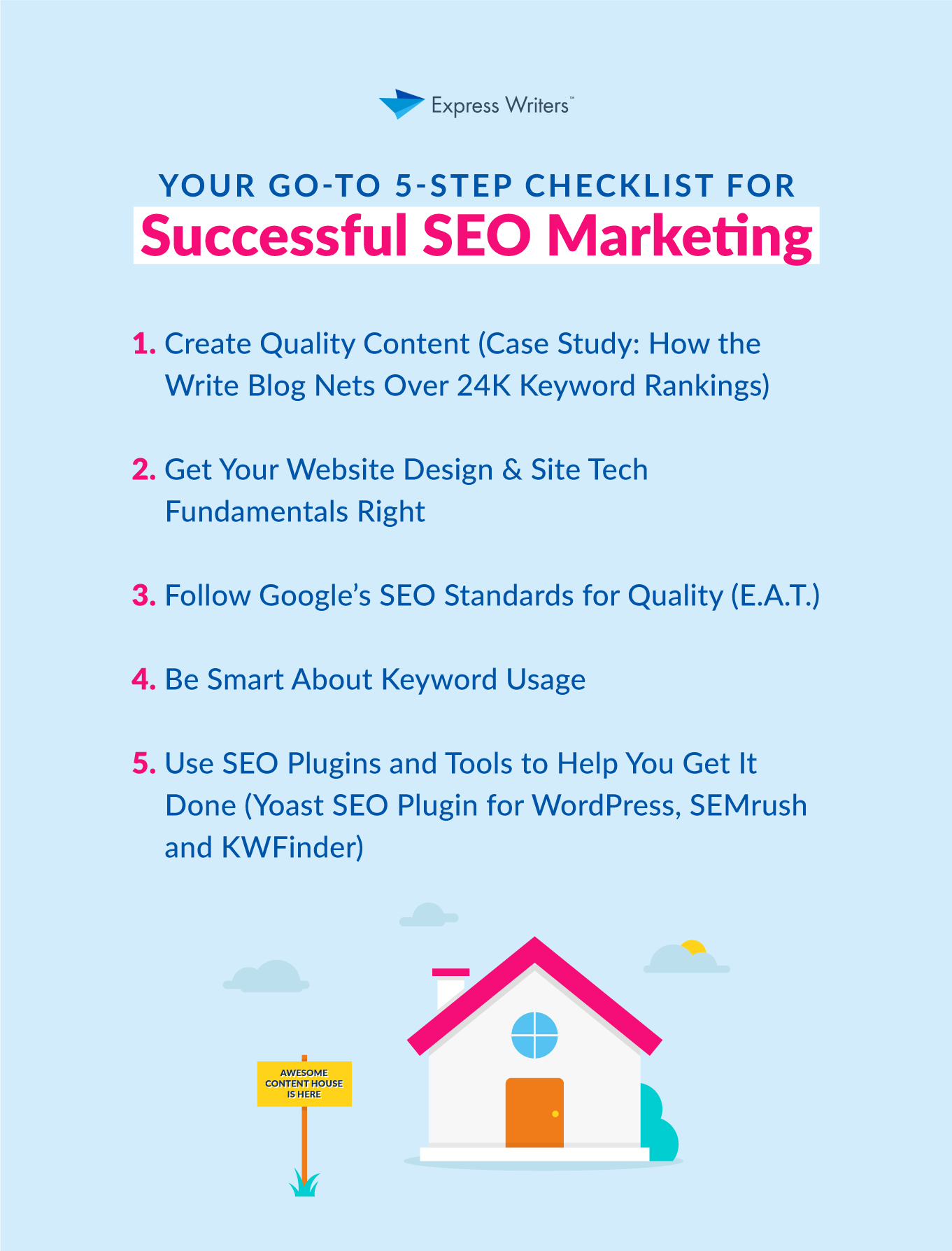 takeaway card for SEO marketing guide