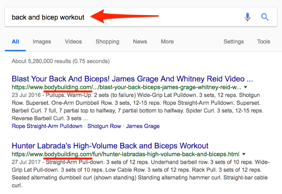 keyword cannibalization example