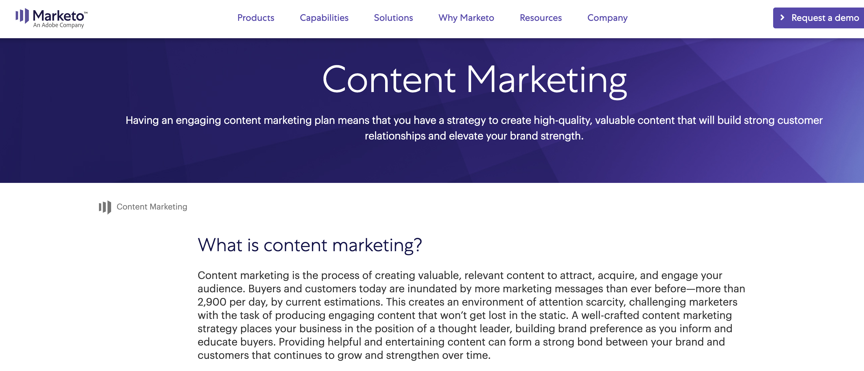 marketo content marketing definition