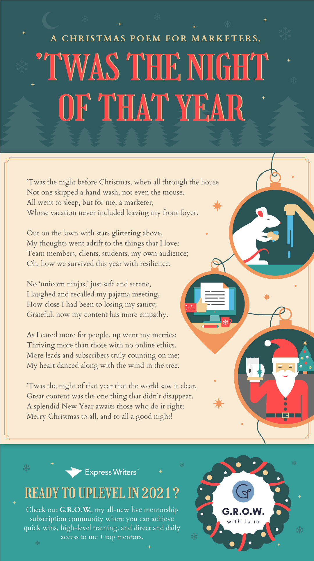 A Christmas Poem for Marketers infographic
