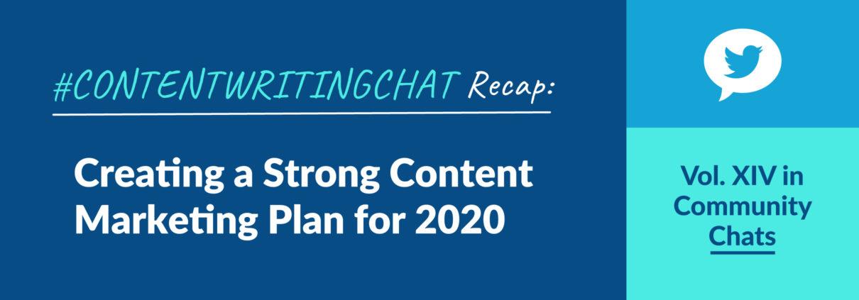 #ContentWritingChat, content marketing plan