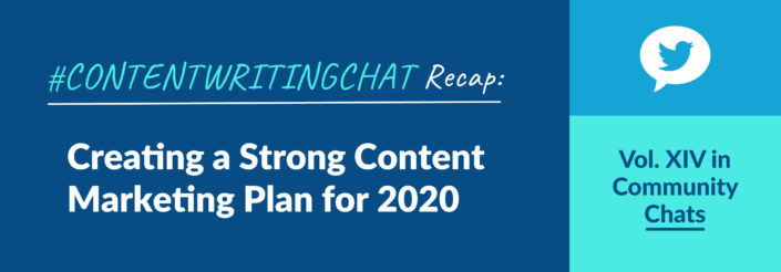 #ContentWritingChat, content marketing plan